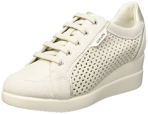Geox D Stardust A, Scarpe Low-Top Donna Bianco (Off White/Off White)