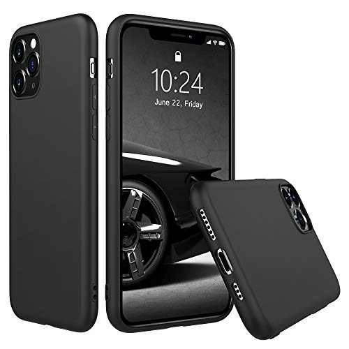 Peakally Funda iPhone 11 Pro, Carcasa Negro TPU Suave Funda para iPhone...