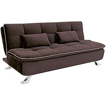ariana three seater sofa cum bed dark coffee