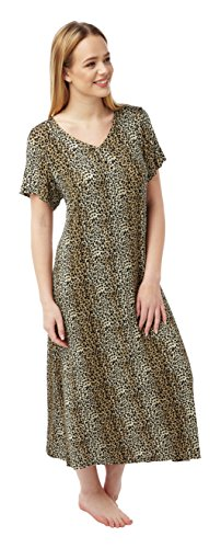 Ladies Long Plus Size Jersey Nightshirt in Assorted Prints. Sizes14-16 18-20 22-24 26-28 30-32 Test