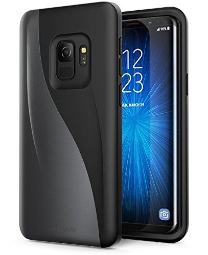 Preisvergleich Produktbild i-Blason Samsung Galaxy S9 Hülle,  [Luna] Premium Handyhülle Hybrid Schutzhülle Düne Case Kratzfest Backcover für Galaxy S9 2018,  Schwarz