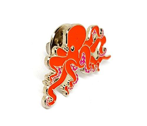 Octopus Sea Tiere Ocean Creature Aka Monsters of the Deep Metall Emaille Brosche   Hohe Qualität Metall Emaille Pin Badge Revers Brosche Neuheit zum Sammeln Geschenk Schmuck für Kleidung Shirt Jacken Mäntel Krawatte Hüte Kappen Taschen Rucksäcke