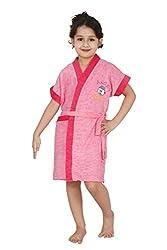 Superior Terry Cloth Pink Kids Bathrobe