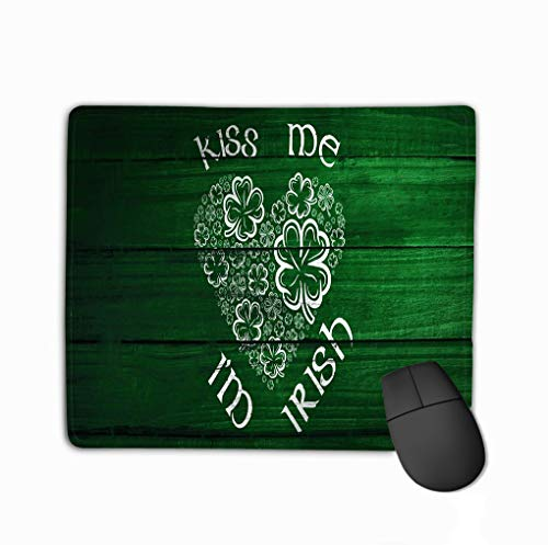 Mousepad Non Slip Rubber Personalized Unique Gaming Mouse Pad 11.81 X 9.84 Inch Composite Image Patricks Day Greeting Against Overhead Wooden Planks Charming -