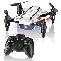 HELIFAR Mini Drone Pliable, H815 Télécommande Quadcopter RC Drone LED Veilleuse 6-Axe Gyro Hélicoptère - Mode sans tête, Une Touche de Retour, Jouet Volant, Les Cadeaux Les Enfants &Les Adultes