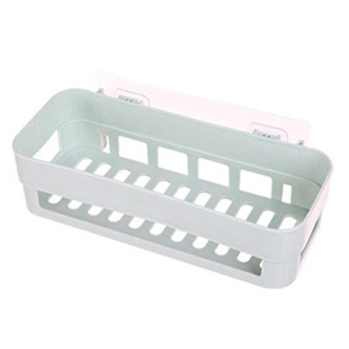 Goodtimes28 Langlebiger Badezimmer-Aufbewahrungskorb für Kleinteile, Küchenregal, mit Saugnapf grün