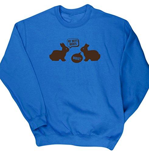 HippoWarehouse Herren Sweatshirt Gr. X-Large, saphirblau