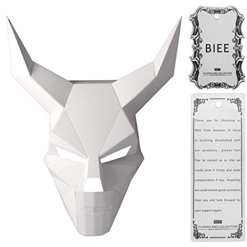 Kostüm Kit Herren Wolf - BIEE DIY 3D Papier Maske Tierkopf Formen Halloween Party Kostüm Cosplay Gesichts Papier-Craft Kit