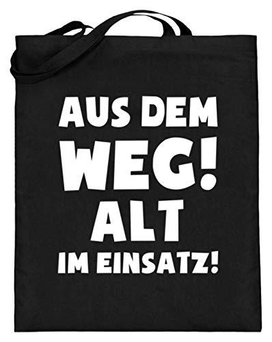 Altes Shirt (shirt-o-magic Chor: Alt im Einsatz! - Jutebeutel (mit langen Henkeln) -38cm-42cm-Schwarz)