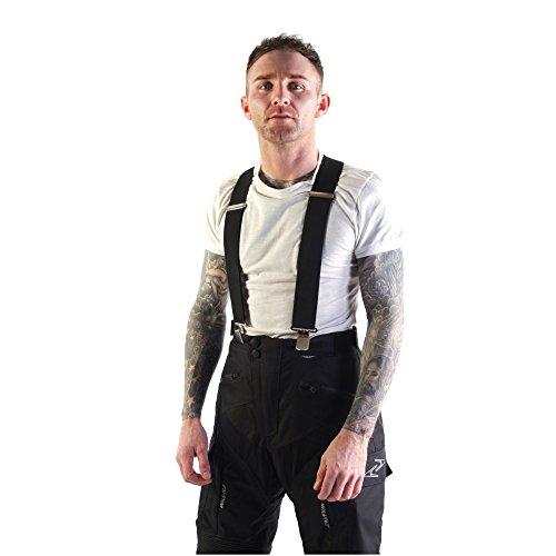 VIPER MOTO Accessories  Motorrad-Zubehör Schutzkleidung Hosen XLR8 Fester elastischer Hosenträger, Black, One