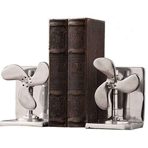 XMUEI Bücherregal Retro Industrie Wind Flugzeug Buch Datei Dekoration Studie Buch Buch Stehen Ordner Wohnzimmer Modell Dekoration Ornamente 23x20 cm