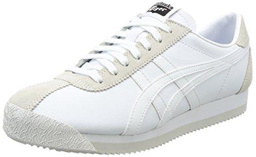 Asics Tiger Corsair, Chaussures de Gymnastique Mixte Adulte, Blanc Cassé (White/white), 39.5 EU