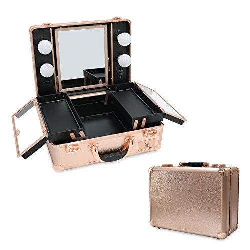 02586a755 luvodi profesional estuche de maquillaje con luz & espejo neceser 4 ...