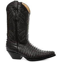 Grinders Botas de cuero para hombre real Croc vaquero - Carolina