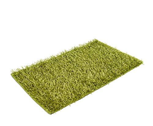 Goezze shaggy - tappeto a pelo lungo a effetto metallizzato tinta unita 50 x 70cm verde