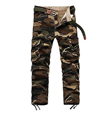 Voguehive - Pantalon - Cargo - Tie-Dye - Homme - Jaune - Taille 50
