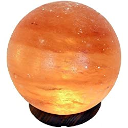 Lámpara de Sal en forma de Sol o Planeta, Diámetro 15 cm, 3 - 4 kilos Incluye Cable y bombilla