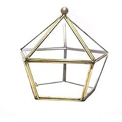Surenhap - Joyero de Cristal geométrico para terrario o Maceta