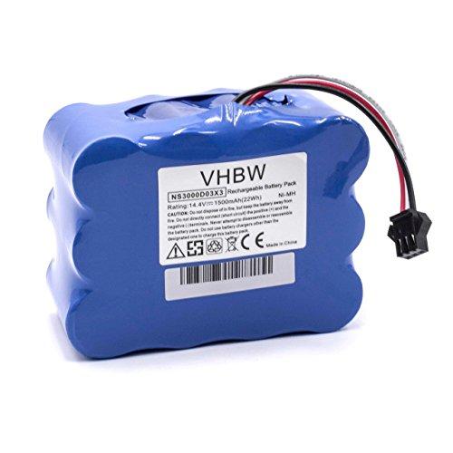 Vhbw Batería NiMH 1500mAh 14.4V robot aspirador