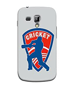 Fuson Designer Back Case Cover for Samsung Galaxy S Duos 2 S7582 :: Samsung Galaxy Trend Plus S7580 (Batsman Playing Shot Cover Drive )
