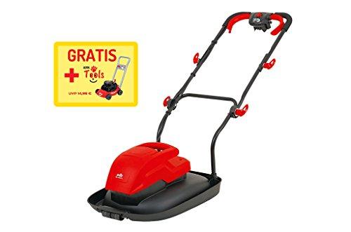 Grizzly Elektro Luftkissen Mulchmäher ERM 1600 34 L, 1600 Watt, 34 cm Schnittbreite, 4 Schnitthöhen, Inkl. Kinderrasenmäher gratis!