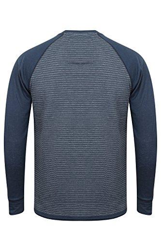 Tokyo Laundry Herren Blusen Langarmshirt Sephro - Navy Blue