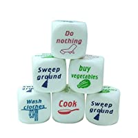 6 Pieces Housework Distribution Dices, Funny Home Romance Dice for Lover/Couple Families Game Gift, Chores Decider for Families Toys Creative and Useful