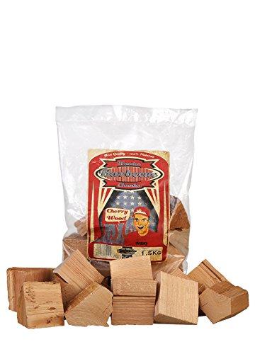 Axtschlag Räucherklötze, Wood Smoking Chunks, Kirsche - Cherry, Holz, 1,5 kg