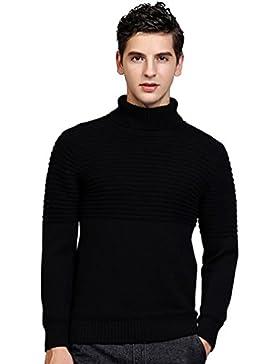 Jitong Uomo Maglia Casuale Dolcevita Slim Fit Sweater Pullover Tinta Unita Maglione a Maniche Lunghe