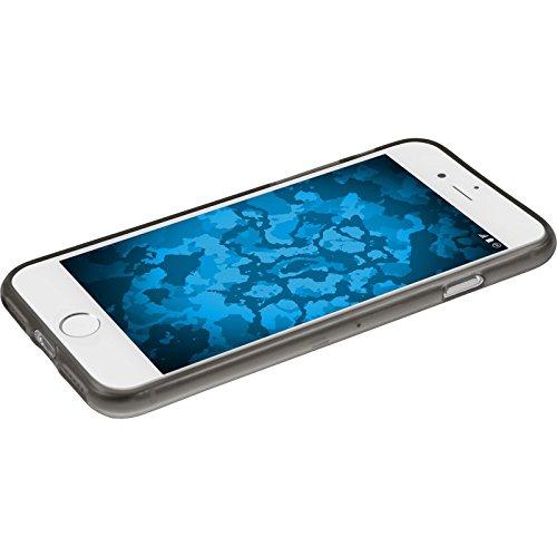 PhoneNatic Case für Apple iPhone 8 Plus Hülle Silikon rosa Iced Cover iPhone 8 Plus Tasche + 2 Schutzfolien Grau