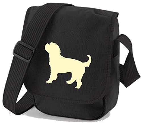 Bag Pixie, Borsa a spalla donna Cream Dog Black Bag