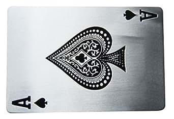 B59 Boucle de ceinture carte à jouer, ace of spade