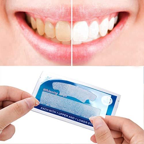 Trendrange 3D Zahnweißstreifen   Dental Whitener Sticker Zahnpflege zur Entfernung von Dekontamination   Natürliches und effektives Zahnweiß Kit für empfindliche Zähne (Wasserstoffperoxid Natürliche)