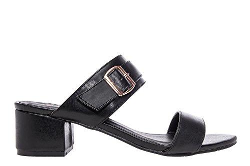 Andres Machado.AM5081.Sandales en Soft .Pour Femmes.Petites Pointures 32/35.Grandes Pointures 42/45. Noir