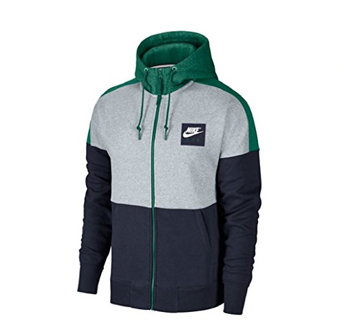 Nike Air Fleece Full Zip Hoody (L, birch/white) (Zip Full Fleece Hoody)