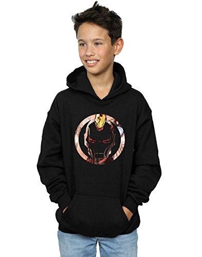 Marvel Jungen Iron Man Montage Symbol Kapuzenpullover 12-13 Years Schwarz (Hoodie Man Iron Boys)