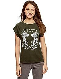 donna itt 4121327031Abbigliamento shirt scritte Amazon con O0NX8ZnPkw