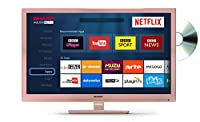 Sharp LC-24DHG6001KR 24-Inch HD Ready LED Smart TV with Freeview HD - Rose Gold