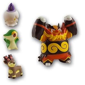 Bandai - 85074 - Figurine - Pokémon - Méga Collection - 5 et 8 cm - Set A2 : Emboar