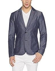 United Colors of Benetton Mens Cotton Jacket (8903975453326_17A2FSIC2022I901M_Blue)