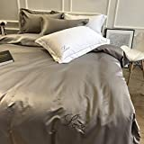 XMDNYE Model Room Water Washed Silk Four Piece Set Is Soft Installed Pure Cotton Bedspread 1.8M Bedding,Boolean,1.5M Bed Quilt Is 200 * 230.