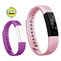TOOBUR Slim Fitness Tracker, Waterproof Activity Tracker with Pedometer Calories and Sleep Monitor, Step Counter Wristband Watch for Women Men Kids