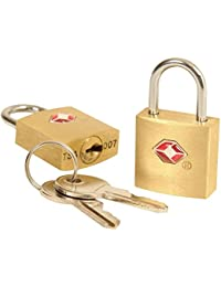 DOCOSS Metal TSA Approved Lock with Key for US International Locks for Luggage(Multicolour, Small) - Pack of 2