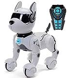 Giocattolo per cane robot telecomandato, Robot per bambini, Giocattoli per cane robot Zoomer Rc Giocattolo per bambini 2,3,4,5,6 anni, Giocattolo robot intelligente e danzante- Solo cane parla Inglese