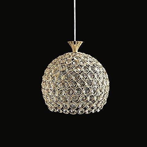 LED a testa singola tre Crystal tessute a mano sala da pranzo lampadario lampadario tecnologia ferro 300-350 (mm)
