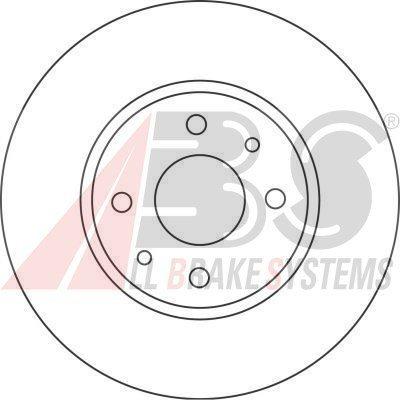 Preisvergleich Produktbild A.B.S. 16422 Bremsscheibe Scheibenbremsen,  Bremsscheiben (x2)
