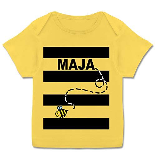 Karneval und Fasching Baby - Bienen Kostüm Maja - 80-86 (18 Monate) - Gelb - E110B - Kurzarm Baby-Shirt für Jungen und - Baby Mädchen Biene Kostüm