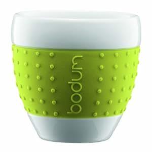 Bodum 11155-565 Pavina Set 2 Tasses Porcelaine 0,1 L Vert Citron