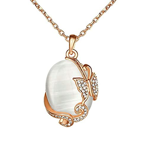18K Plaqué Or Colliers, Femmes Mode Pendentif Colliers Betterfly Opal Pendentif Epinki