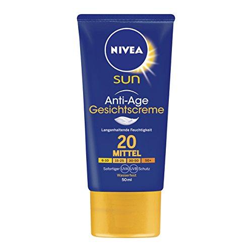 Nivea Sun Anti-Age Sonnencreme für das Gesicht, Lichtschutzfaktor 20, 1er Pack (1 x 50 ml)